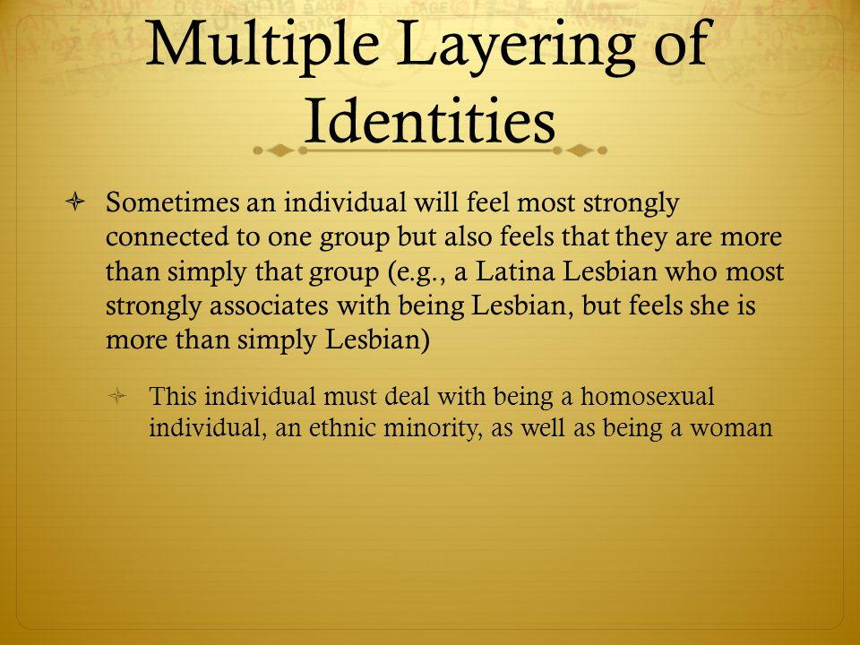 Multiple Layering of Identities