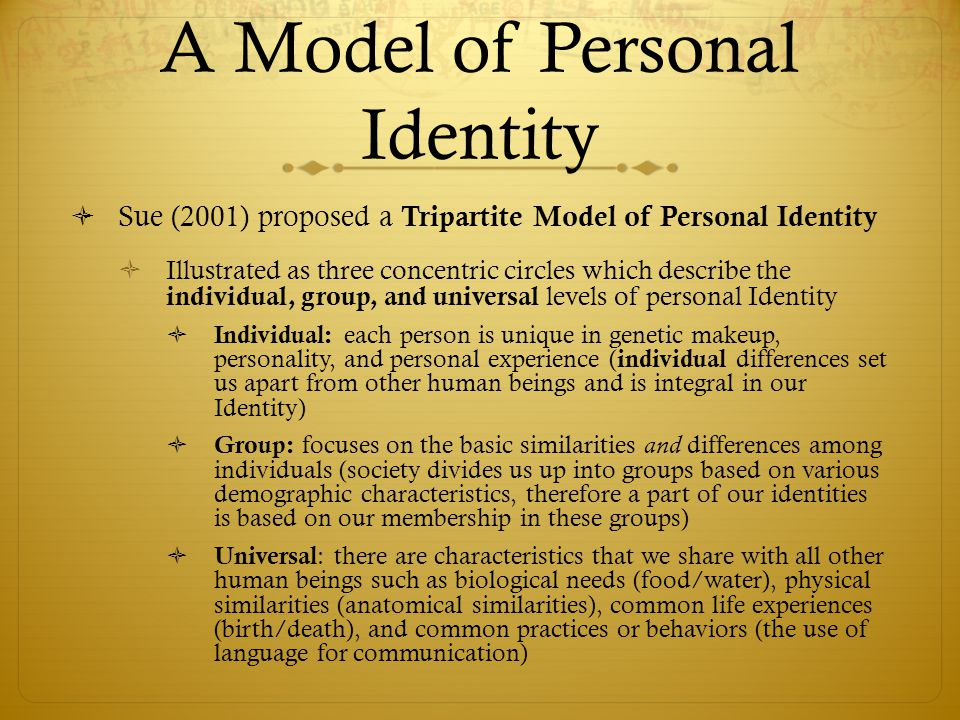 A Model of Personal Identity
