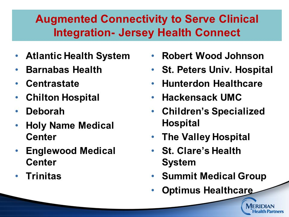 Augmented Connectivity to Serve Clinical Integration- Jersey Health Connect