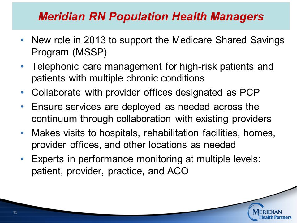 Meridian RN Population Health Managers
