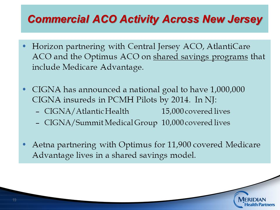 Commercial ACO Activity Across New Jersey