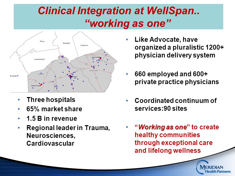 Clinical Integration at WellSpan.. working as one