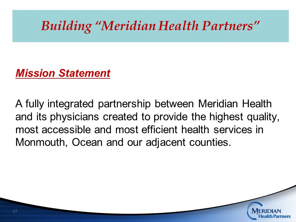 Building Meridian Health Partners