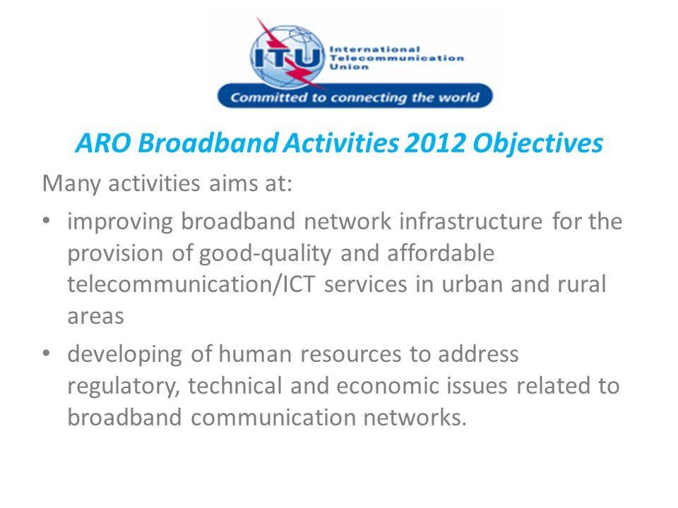 ARO Broadband Activities 2012 Objectives