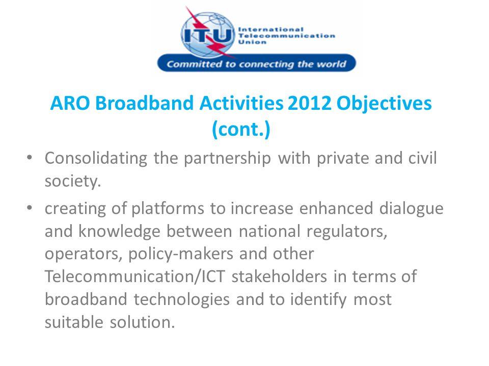 ARO Broadband Activities 2012 Objectives (cont.)