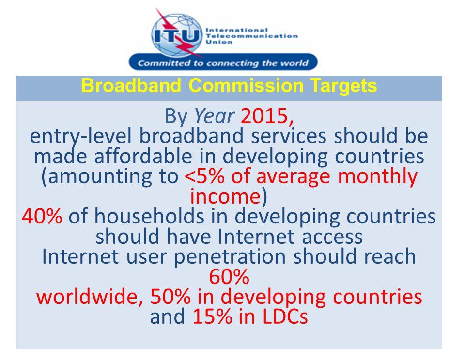 Broadband Commission Targets