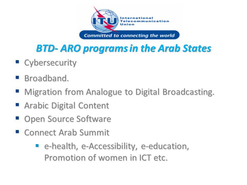 BTD- ARO programs in the Arab States