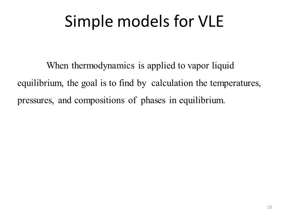 Simple models for VLE