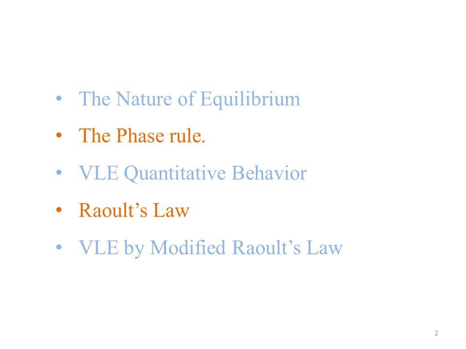 The Nature of Equilibrium