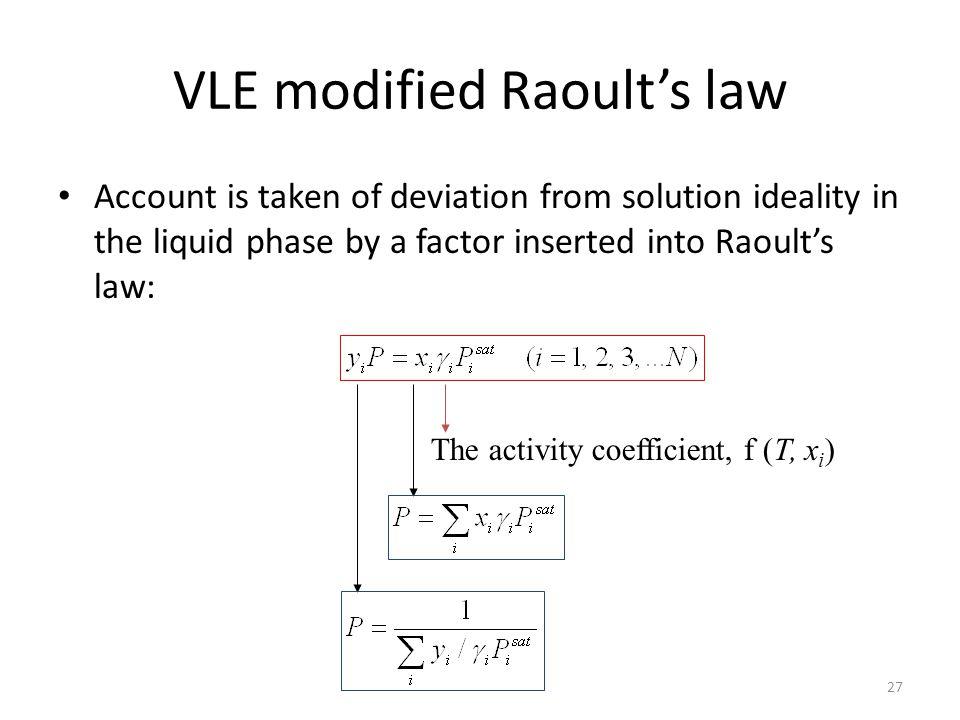 VLE modified Raoult's law