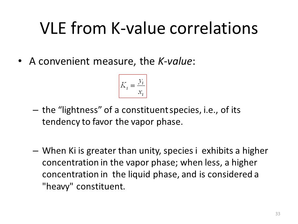 VLE from K-value correlations