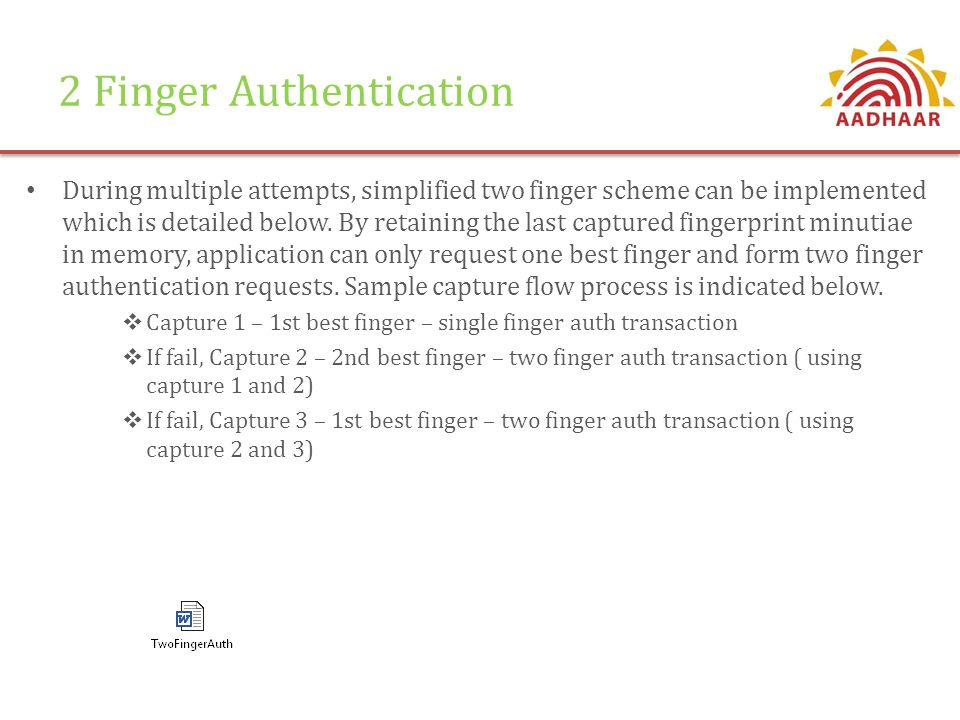 2 Finger Authentication