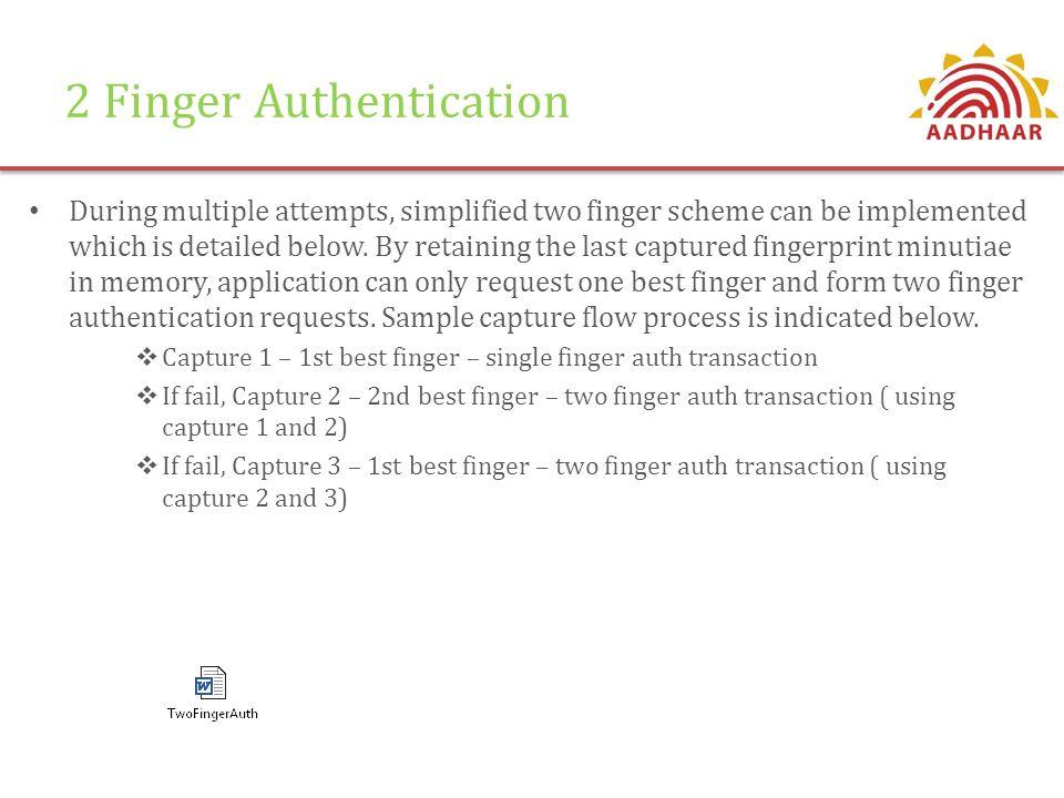 2 Finger Authentication