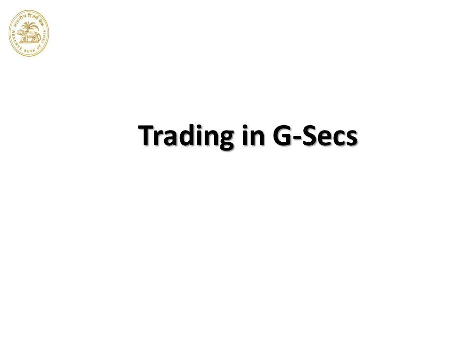 Trading in G-Secs