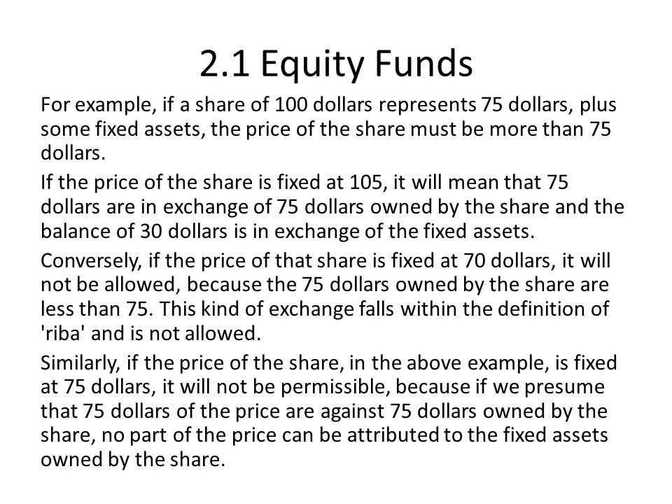 2.1 Equity Funds