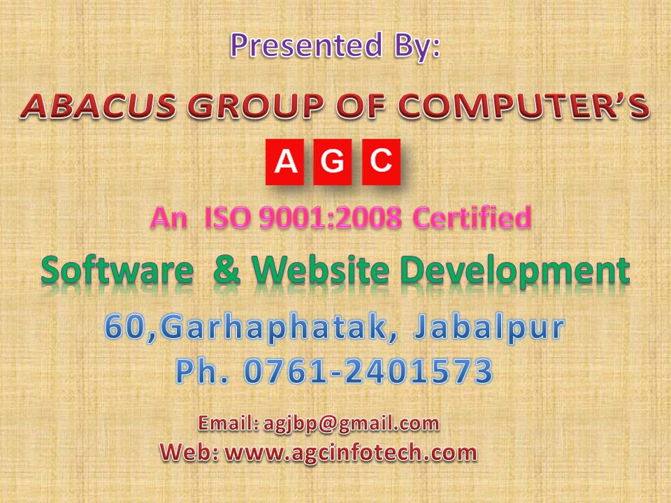 ABACUS GROUP OF COMPUTER'S Software & Website Development