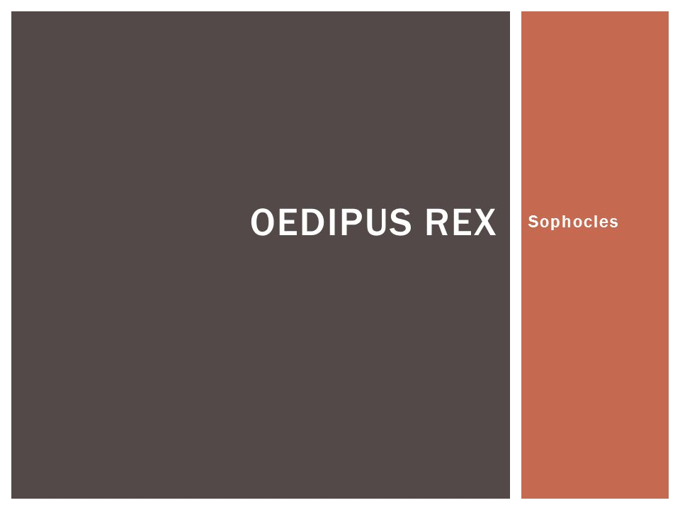 Examine Sophocles's use of dramatic irony in Oedipus Rex?
