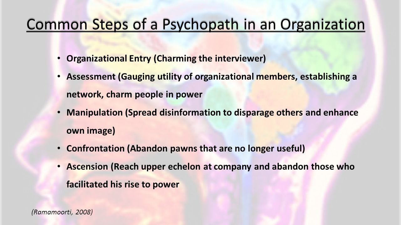 Common Steps of a Psychopath in an Organization