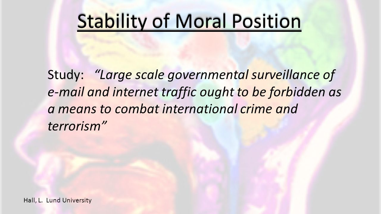 Stability of Moral Position