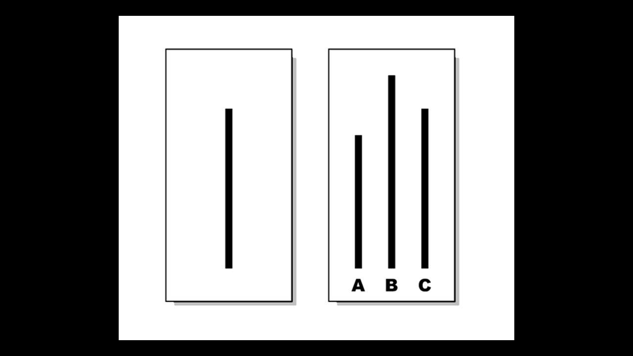 Asch's line experiment-conformity