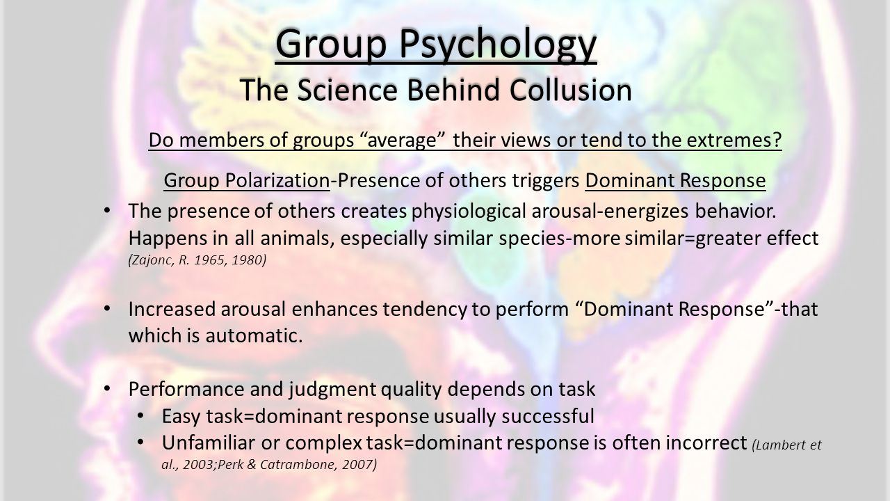 Group Psychology The Science Behind Collusion