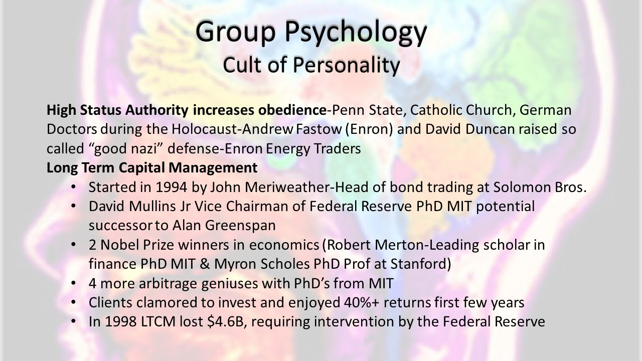 Group Psychology Cult of Personality