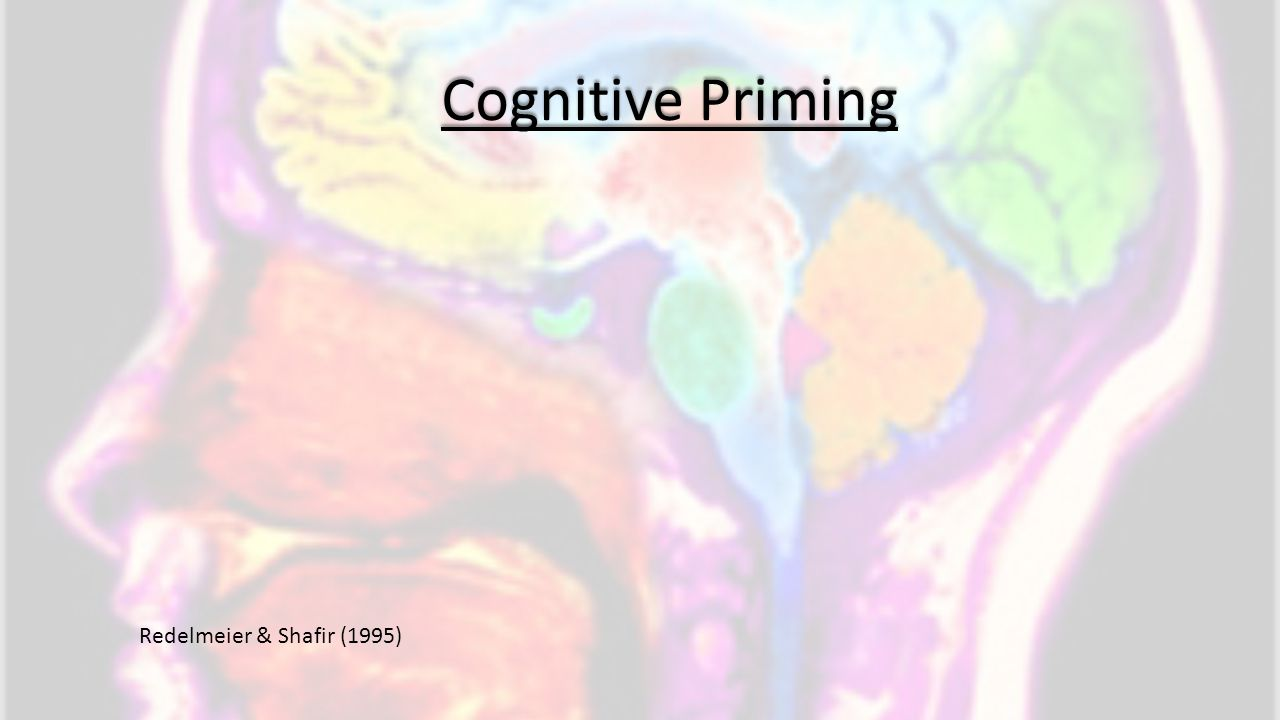 Cognitive Priming Redelmeier & Shafir (1995)