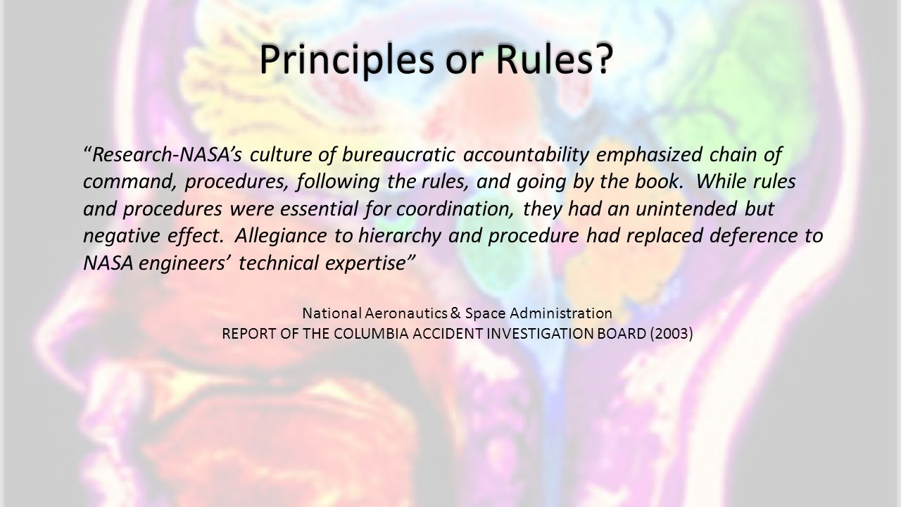 Principles or Rules