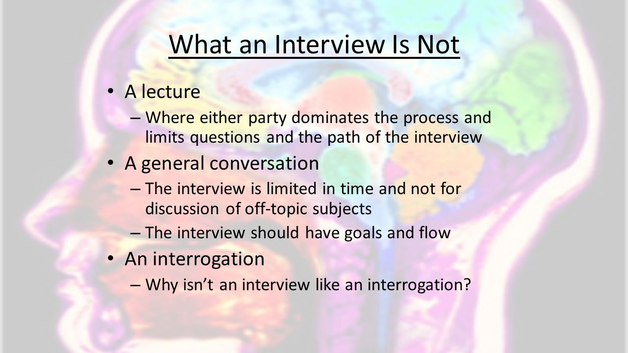 What an Interview Is Not