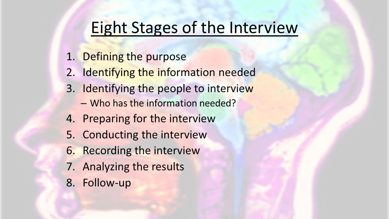 Eight Stages of the Interview