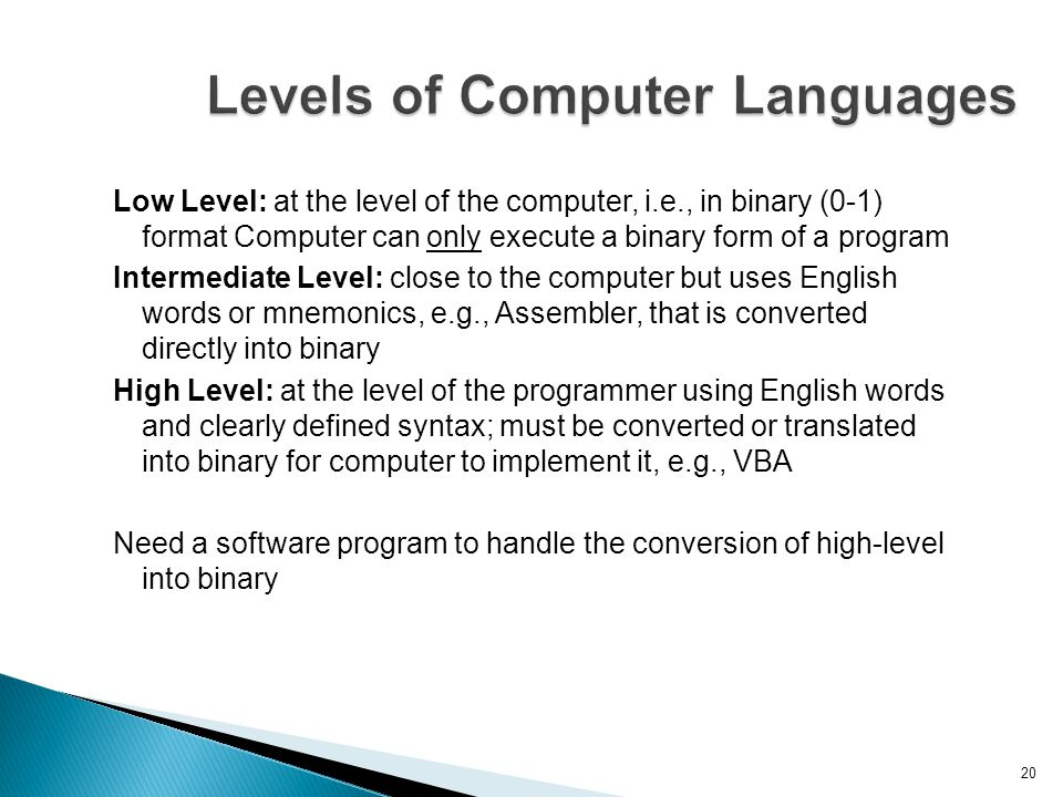 Levels of Computer Languages