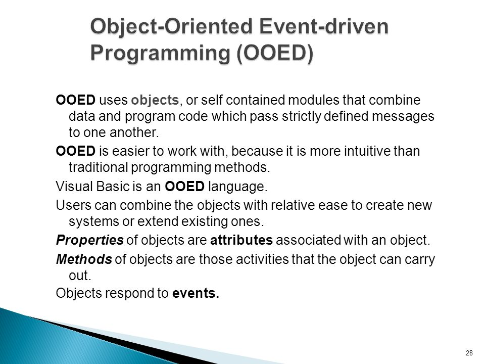 Object-Oriented Event-driven Programming (OOED)