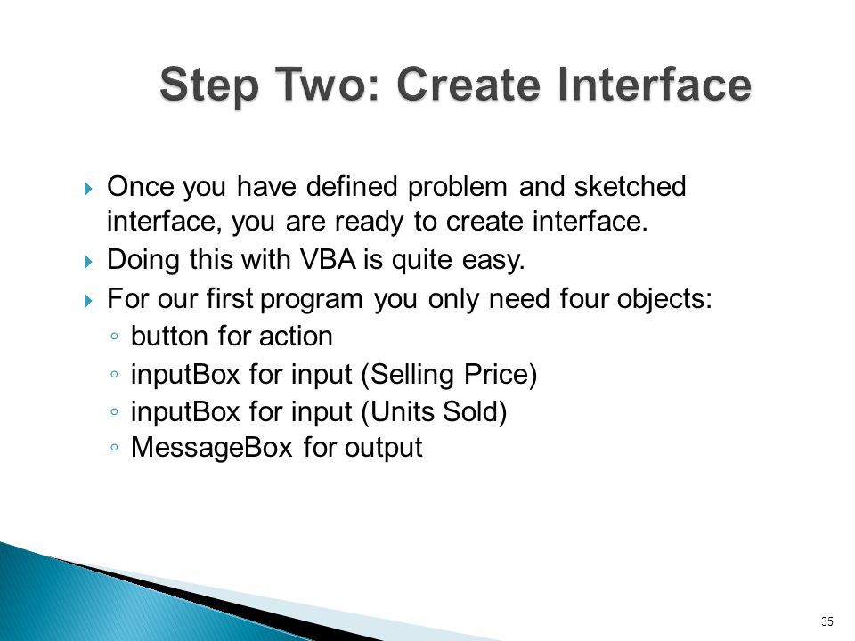 Step Two: Create Interface
