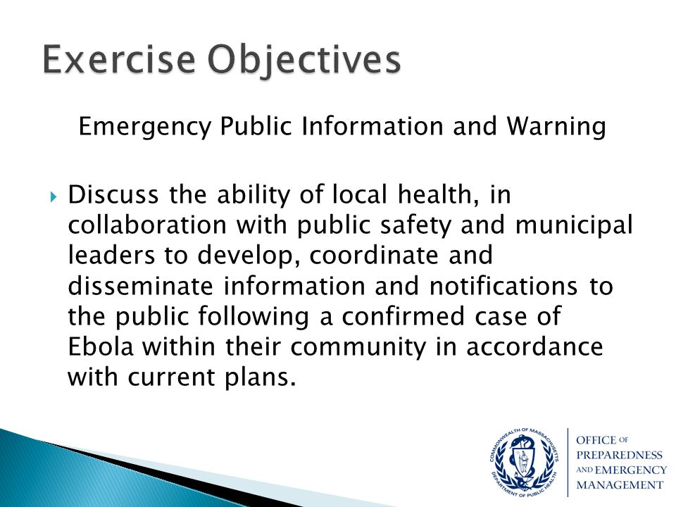 Emergency Public Information and Warning