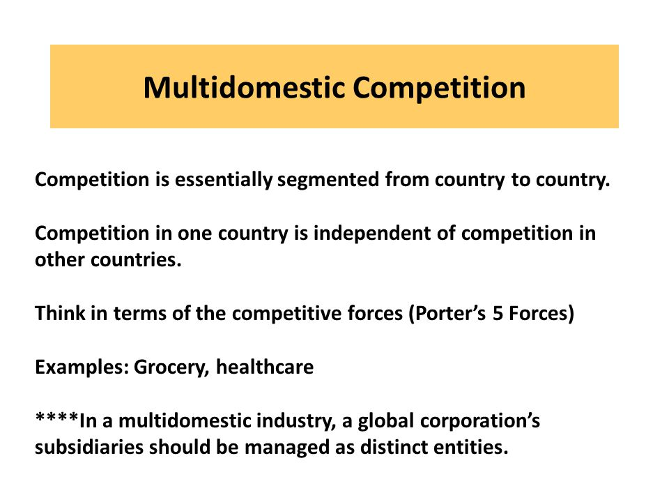 Multidomestic Competition