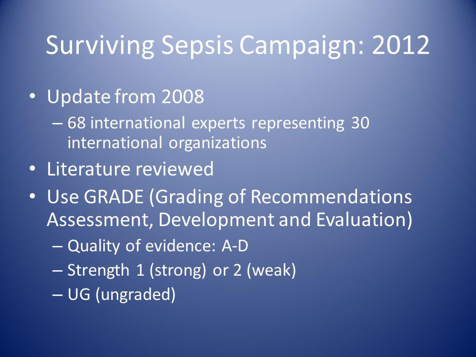 Surviving Sepsis Campaign: 2012