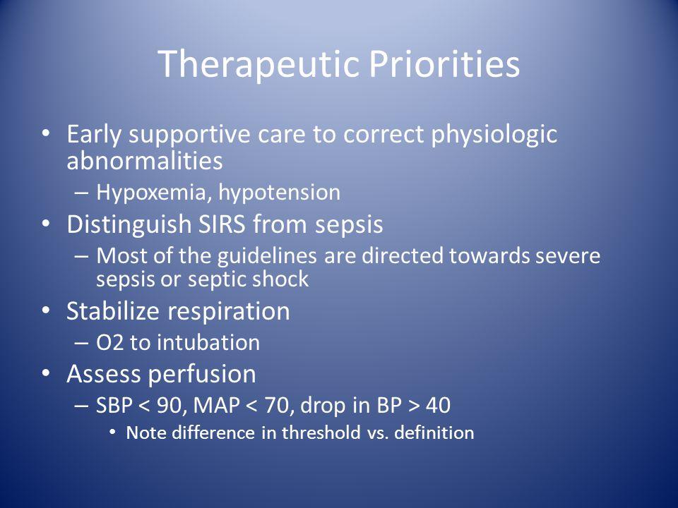 Therapeutic Priorities