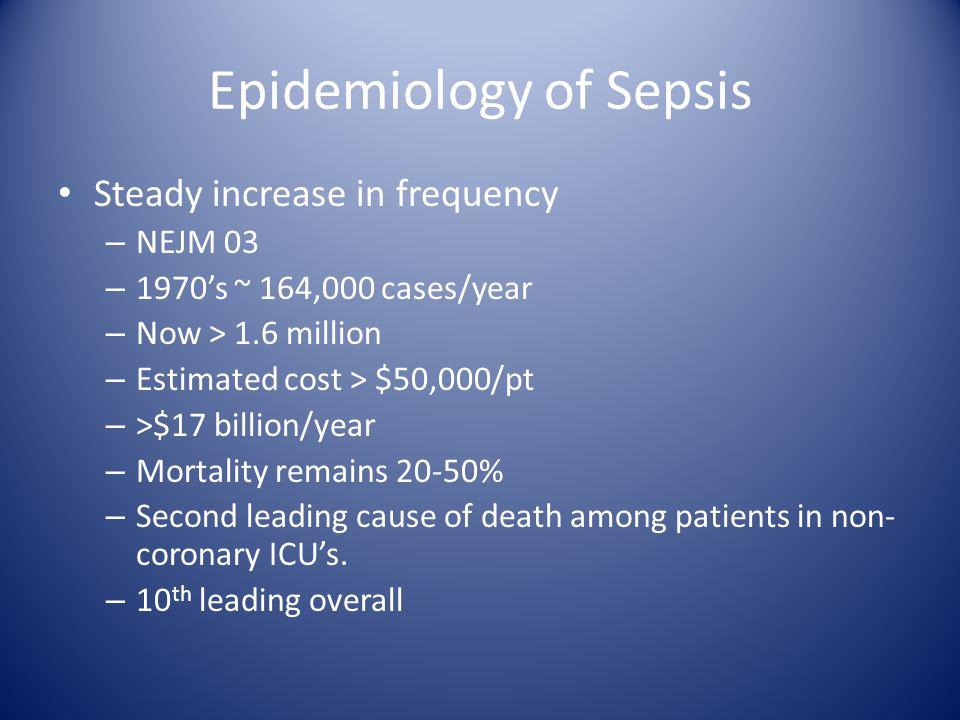 Epidemiology of Sepsis