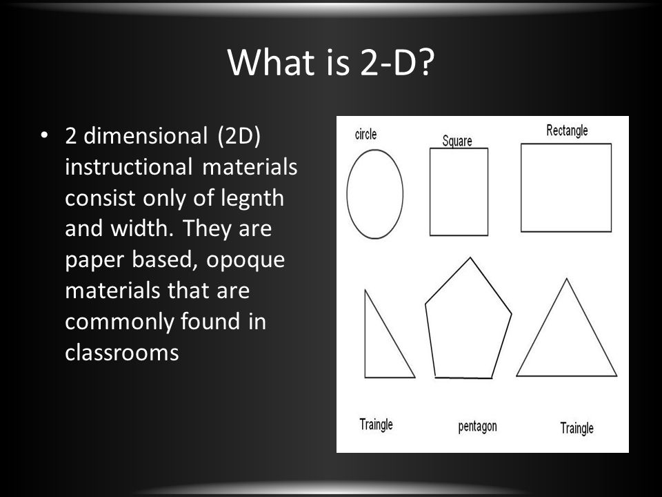 What is 2-D