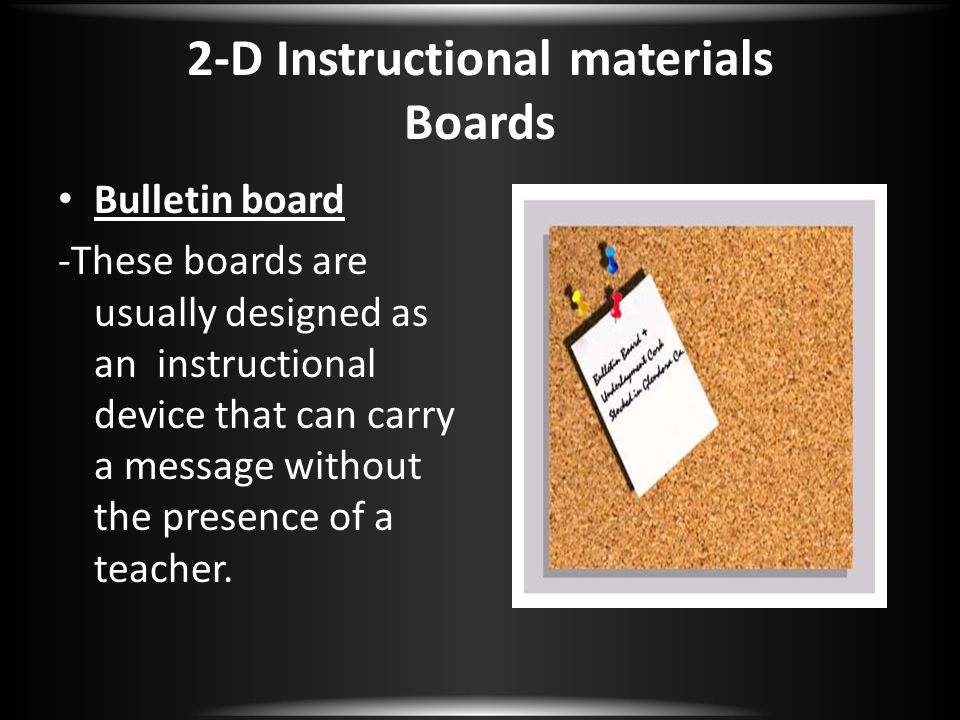 2-D Instructional materials Boards
