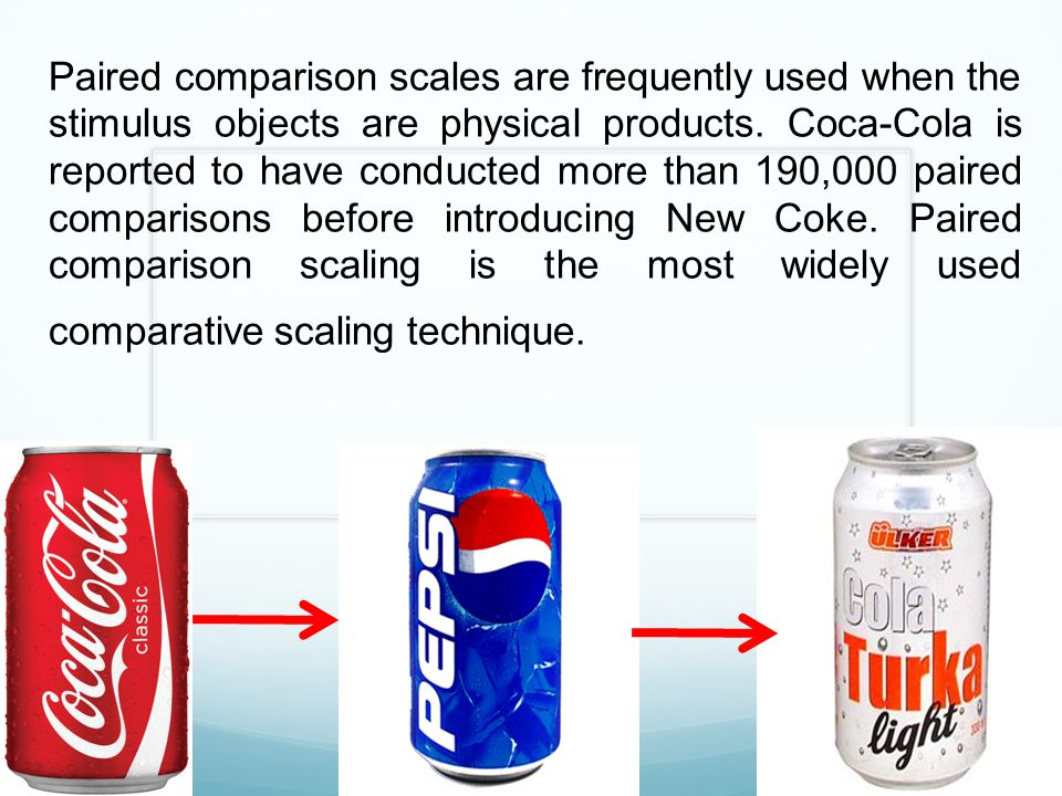 Paired comparison scales are frequently used when the stimulus objects are physical products.