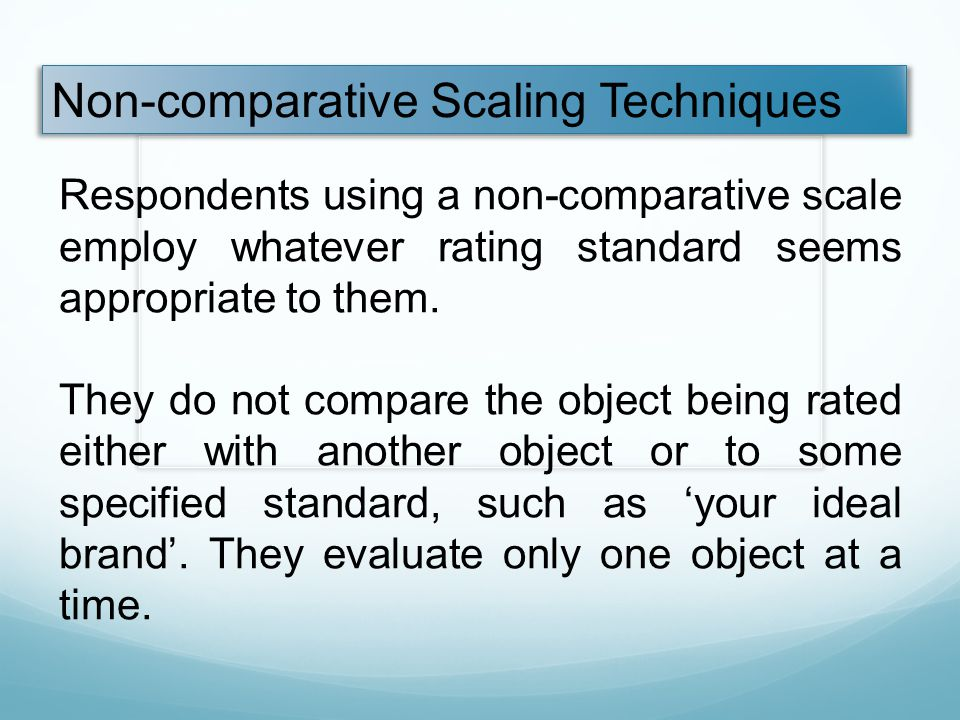 Non-comparative Scaling Techniques