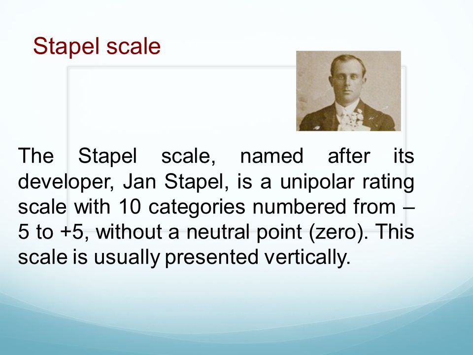 Stapel scale