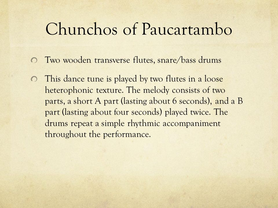 Chunchos of Paucartambo