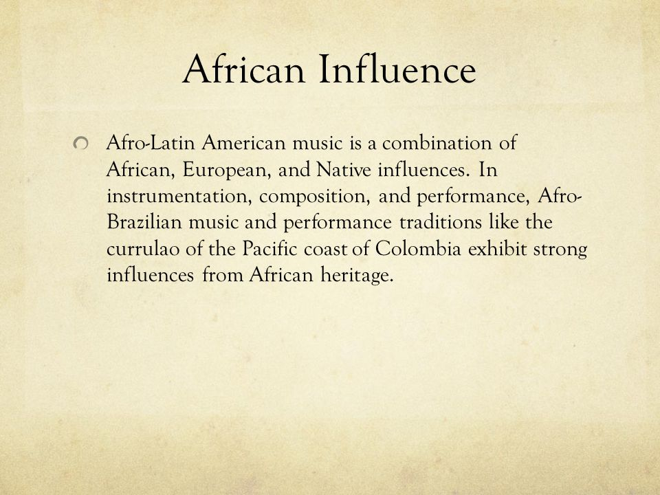 African Influence