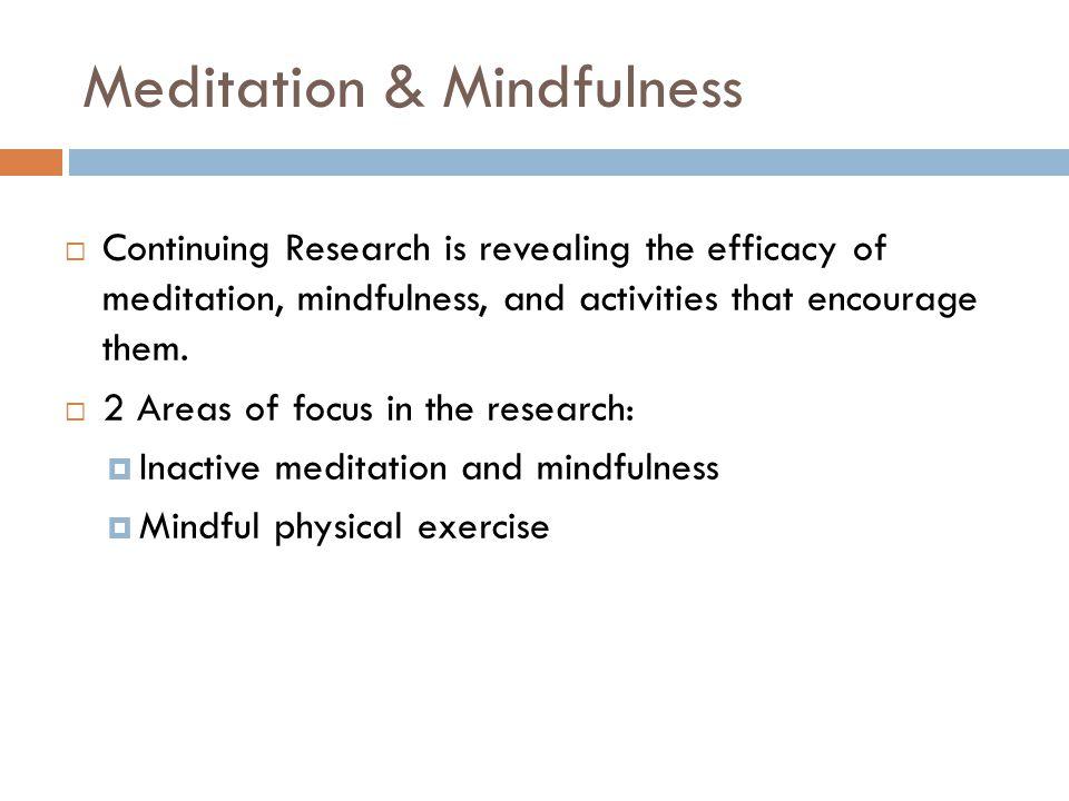 Meditation & Mindfulness