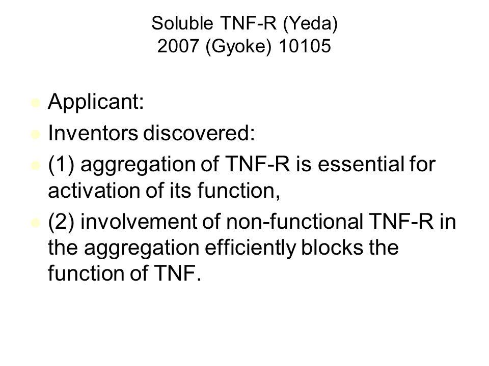 Soluble TNF-R (Yeda) 2007 (Gyoke) 10105