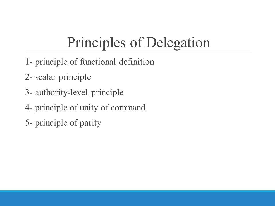 Principles of Delegation