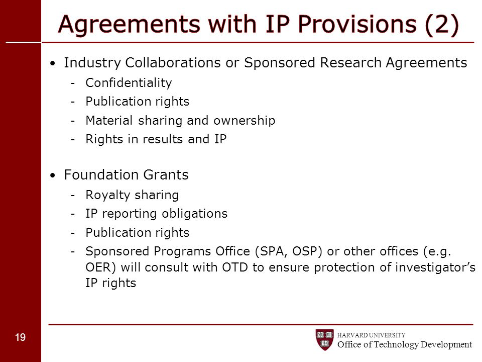 Agreements with IP Provisions (2)