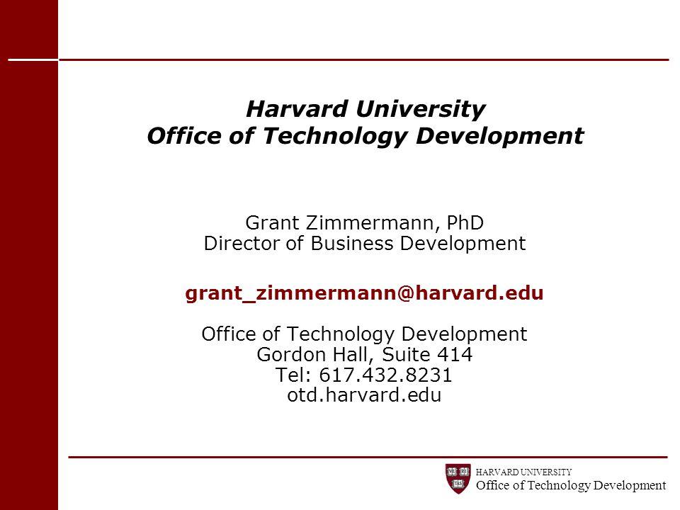 Harvard University Office of Technology Development